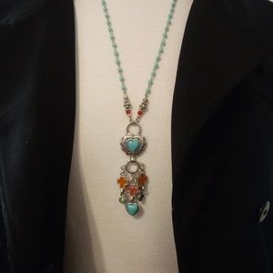 Brighton Loretto Heart and Cross Necklace